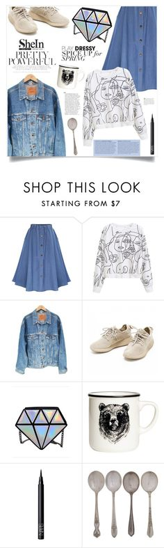 """Power Look"" by violet-peach ❤ liked on Polyvore featuring WithChic, Levi's, NARS Cosmetics and Anja"
