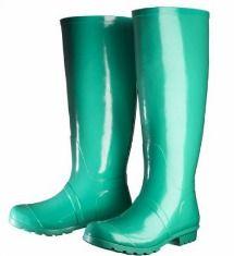 Target green rainboots