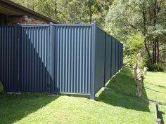 Steel blue fencing