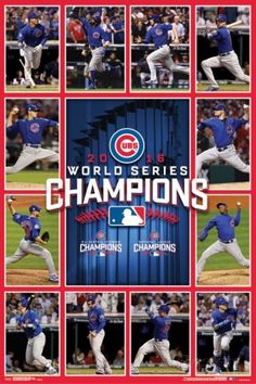 "Chicago Cubs 2016 World Series ""Game 7 Heroes"" Championship Commemorative Poster - Trends Baseball Gear, Chicago Cubs Baseball, Baseball Season, Baseball Games, Cubs Team, Team S, Cubs Players, Mike Montgomery, Aroldis Chapman"