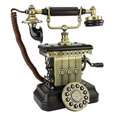 Design Toscano Victorian Magneto 1923 Reproduction Telephone >>> Want to know more, click on the image. (This is an affiliate link) #HomeDecorAccents