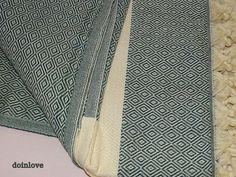 Dark green colour diamond patterned Turkish soft cotton single