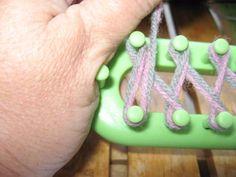 loom knitting, broken down