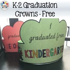Graduation Crowns, Free DownloadThese crowns are suitable for Kindergarten, 1st Grade and 2nd grade.It comes as a non-editable PDF file in black and white for ink friendly printing. I recommend printing on card so that they will be stronger.These are a great way to celebrate the end of the year and for graduation parties.