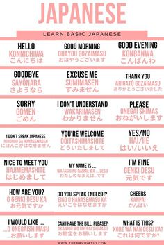 Japanese beginner phrases for tourist and people who want to study Japanese at home. Easy and useful phrases and sentences to start learning Japanese # Learn Japanese with these beginners phrases Learn Basic Japanese, Basic Japanese Words, Japanese Phrases, Learn Korean, Learning Japanese, How To Study Japanese, Japanese Sentences, Japanese Things, Japanese Kanji