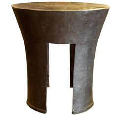 Kin Rain Round Bronze Table | From a unique collection of antique and modern side tables at https://www.1stdibs.com/furniture/tables/side-tables/