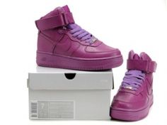 Women Nike Air Force One High Top Shoes All Pink