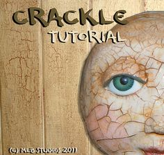 Art Tutorial - How I Crackle My Clay Dolls A Free Tutorial - MLBetterly
