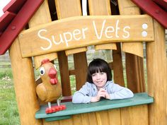 'Supervets' timber farm themed playhouse