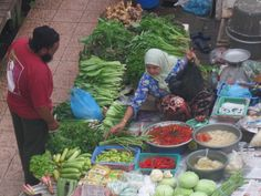 Selling fruit at Asian Market in Malaysia
