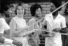 2470212 playing jump rope at Mount Zion freedom school, Hattiesburg, MS, Freedom Summer, 1964 takestockphotos.com