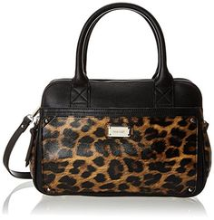 Nine West Double Vision Satchel Handbag,Black/Black,One Size >>> Details can be found by clicking on the image.