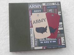6x6 Army scrapbook/photo album. Also available for Navy, Air Force, Marines.