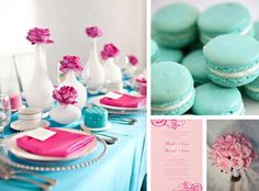 Pink+Blue Wedding