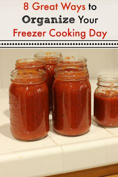 8 Great Ways to Organize Your Freezer Cooking Day | Life as Mom - Planning a freezer cooking day? You can make it easier and more fun when you organize yourself and follow these easy tips.