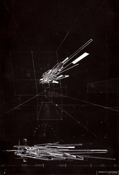 Gordon Yung - Proximity + Architecture, drawing of physical wire model.