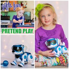 """DailyMom's Gifts for Pretend Play Guide recommends our: Tekno Robot Puppy: """"This incredibly fun doggy is among one of the hottest trends in toys this year. This amazing robot dog can not only walk, bark, and sleep like a real puppy, but he will even obey your child's voice and hand signals!... One of the most fun parts of this dog is the free app that you can download to take the fun even further!... """""""