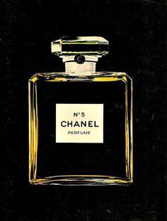 "1974 CHANEL No. 5 Bottle Perfume Ad ""Color"""