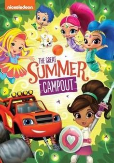 Pack up for summer fun in these five Nick Jr. camping adventures! Get wild in style on a campout with Sunny, master sound waves to earn a truck ranger badge with Blaze, make magic and s'mores on a sleepover with Shimmer and Shine, and team up for the summer camp games with the Guppies. Plus, join Nella for a special knight of slumber party stories and more!