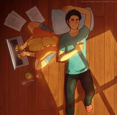 Percy and Annabeth having a much deserved boring summer. Oh, my feels.