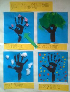 De Onderwijsstudio - De 4 jaargetijden Crafts For Kids, Arts And Crafts, Diy Crafts, Science And Nature, Four Seasons, Back To School, Museum, Kindergarten, Projects To Try