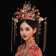 Traditional Chinese Wedding, Korean Traditional Dress, Traditional Dresses, Chinese Hairstyles, Historical Hairstyles, Anime Inspired Outfits, Culture Clothing, Asian Model Girl, Ancient China