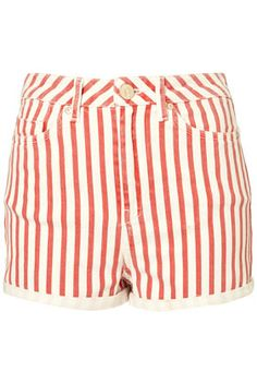 Put a blue top with these and you have a 4th of July outfit.