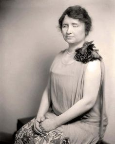 You are looking at a stunning photograph of Helen Keller. It was created between 1905 and 1945 by Harris & Ewing. The photograph illustrates Keller, who was an author, activist and lecturer. She was the first deaf and blind person to earn a Bachelor of Arts degree.