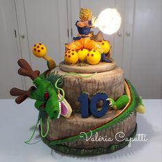 Goku Birthday, Ball Birthday, My Birthday Cake, Birthday Party Themes, Tarta Dragon Ball, Simple First Birthday, Dragon Z, Bolo Fake, Cakes For Boys
