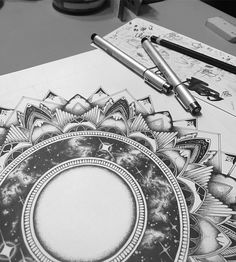 This 7+ camera is brazy. The amount of time I've spent on this piece, also brazy... . . . #Mandala #Art #WIP #Cosmos #iPhone7plus