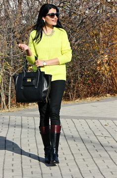 Fall Outfit, Fall Brights, Riding Boots
