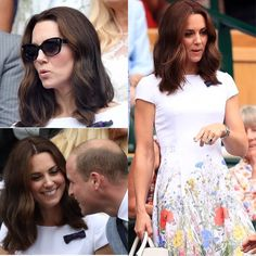 """637 Likes, 4 Comments - HRH The Duchess of Cambridge (@katemiddletonnn) on Instagram: """"•swipe to see more photos• William and Kate attended Gentlemen's Singles Final of Wimbledon. More…"""""""