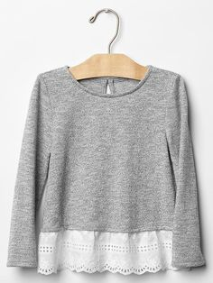 Toddler Girls' Tops: pleated tops, turtleneck tops, ruffle tops at babyGap Fall 2015 Outfits, Summer Fashion Outfits, Teen Fashion, Little Girl Outfits, Toddler Girl Outfits, Little Girl Fashion, Toddler Girls, Cute Simple Dresses, Girl Trends