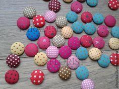 Купить Пуговицы, кнопки обтянутые тканью - комбинированный, кнопка, Пуговки, пуговица, пуговицы для кукол