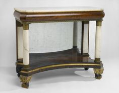 Pier Table or Console Culture: American Medium: Mahogany, marble, mirrored glass, metal mounts Dates: 1820-1830
