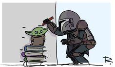 The Mandalorian - The Child aka Baby Yoda (Star Wars) Star Wars Meme, Star Wars Fan Art, Star Trek, Star Wars Baby, Dreamworks, Dark Vader, Cuadros Star Wars, Yoda Meme, Funny Memes