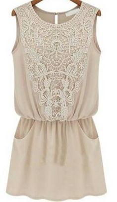 sleeveless lace trim chiffon dress http://rstyle.me/n/gywwqr9te