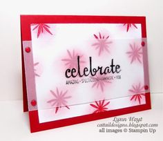 Cattail Designs: Stampin Up, 10 min card, week one