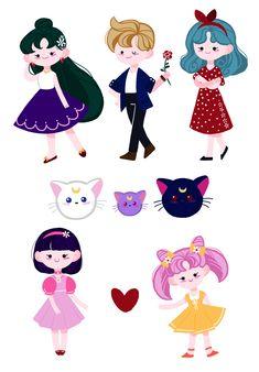 "rangbbu: "" Sailor Moon Sticker MADE RANGBBU """