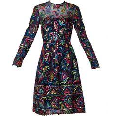 Victoria Royal Ltd Vintage 1960s 60s Silk Sequin Embroidered Dress | See more vintage Cocktail Dresses at https://www.1stdibs.com/fashion/clothing/evening-dresses/cocktail-dresses in 1stdibs