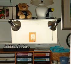 My home made light box for photographing stampin up craft projects