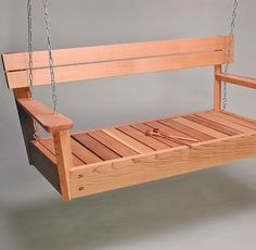 Musical Porch Swing, Wooden Swing Made From Cedar For Musical Summer Outdoor Fun