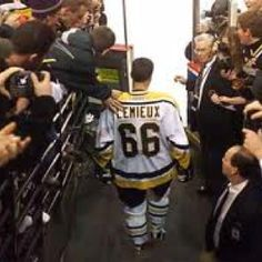 Day 24- Greatest hockey moment?    Either Mario Lemieux's comeback in December 2000 or Bobby Orr's famous leap.