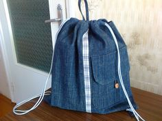 Backpack / Blue backpack / Denim backpack by Bagsandclothingstore