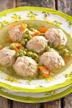Суп с фрикадельками из индейки и зеленым горошком. 49/100 - Вкусная пауза