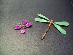 Delicate wire nail polish butterfly and dragon fly (who knows these might make themselves into hairpins)
