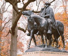 """Baltimore, Maryland - Confederate - Robert E. Lee and Stonewall Jackson monument.    """"ENDANGERED"""""""