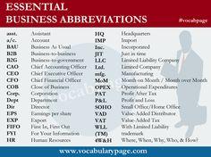 Abbreviations www.vocabularypage.com