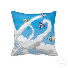 Astronaut Cadet Badge Pillows