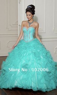 quincenera dress:) with a little more coverage on the top
